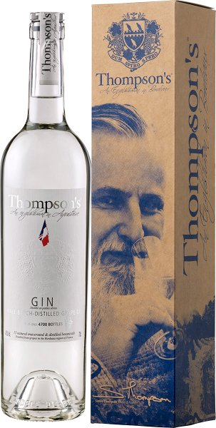 Thompson's Finest Eaux de Vie Bordeaux Thompson's bordelais grape Gin