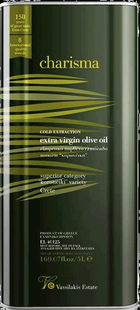 Charisma Olivenöl Kreta Extra Nativ 5 Liter Kanister | Vassilakis Estate
