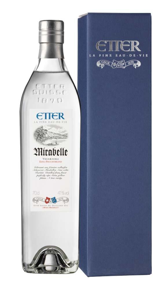 Etter Söhne AG Distillerie Zug Etter Mirabelle in Geschenkverpackung