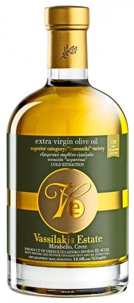 Gut Vassilakis Estate Olivenöl Kreta Extranativ 0,5 Liter