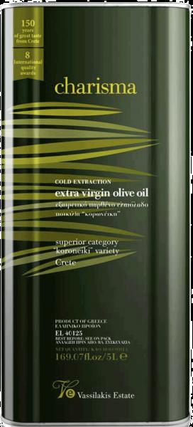 Charisma Olivenöl Kreta Extra Nativ 5 Liter Kanister Vassilakis Estate