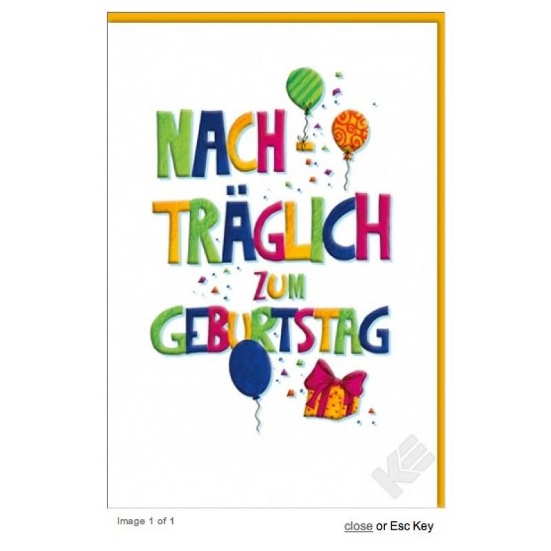 Grusskarte Nachtraglich Zum Geburtstag Geburtstag Grusskarten