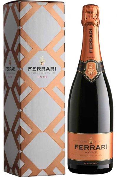 Ferrari Rosé Trentodoc mit Geschenkkarton