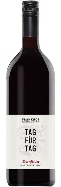 Frankhof Weinkontor Tag fĂĽr Tag Dornfelder 1 Liter trocken 2018