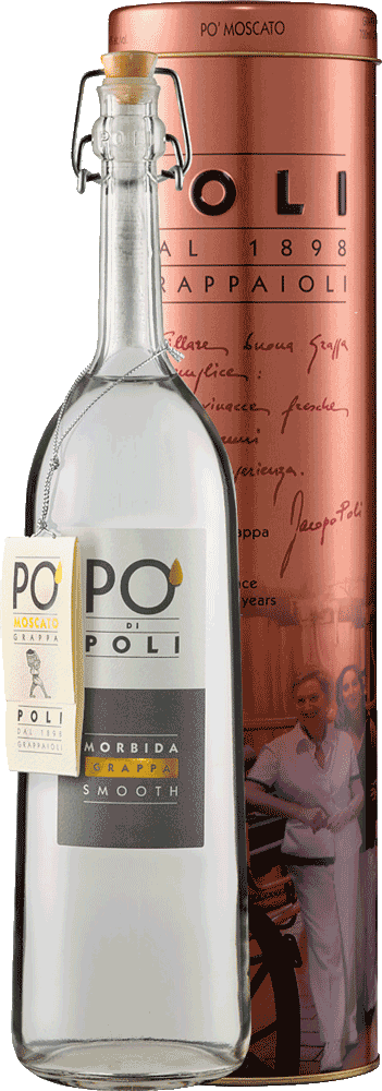 Grappa Po' di Poli Morbida - Smooth in Geschenkdose